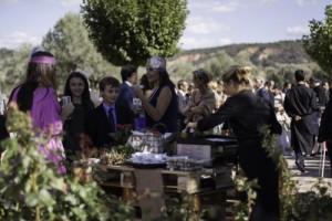 boda con menú de asado