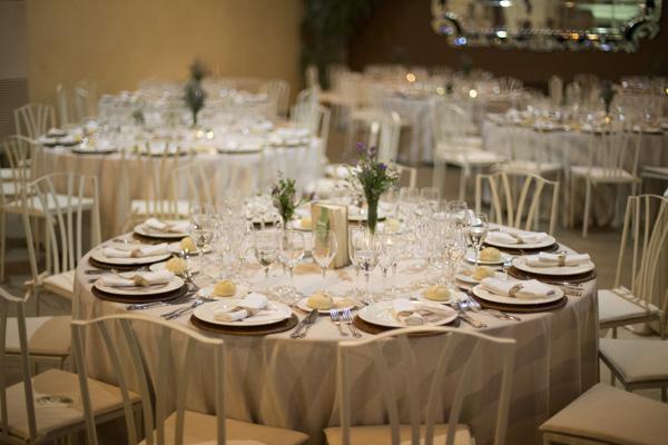 manteleria rayas laurel catering